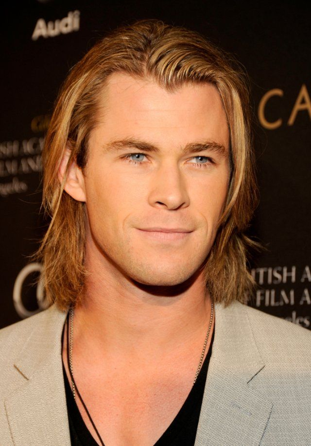 If Fabio and Brad Pitt were somehow able to reproduce one offspring--this would be the result--Chris Hemsworth as Thor.