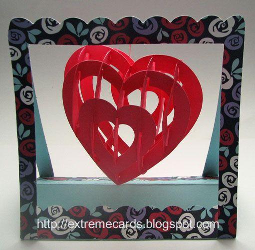 sliceform всплывающее карты сердце