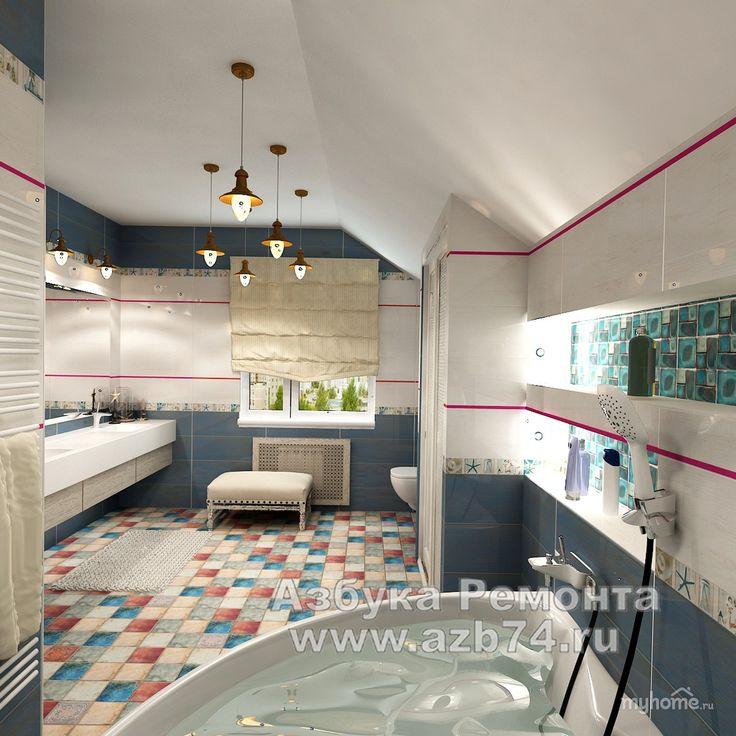 Ванная комната в средиземноморском стиле — Интерьеры квартир, домов — MyHome.ru