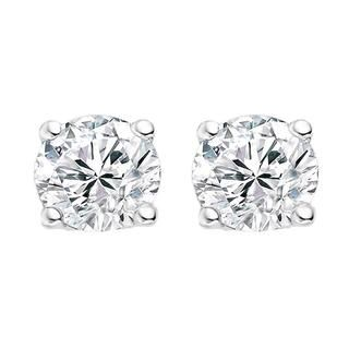 Four Claw Diamond Stud Earrings In 9k White Gold (0.20ct tw)
