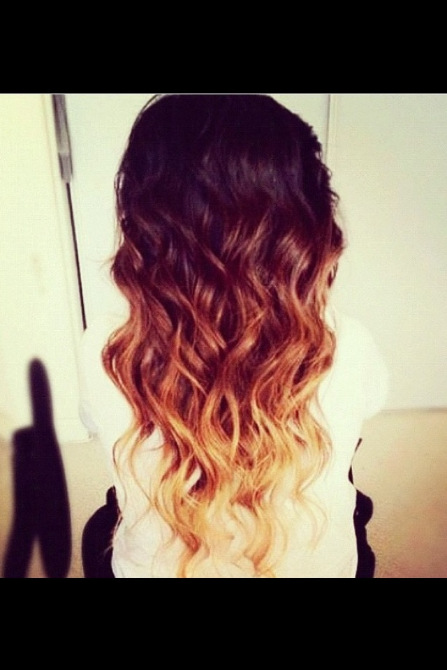 Auburn/black/blonde hair. Wish I could pull it off!