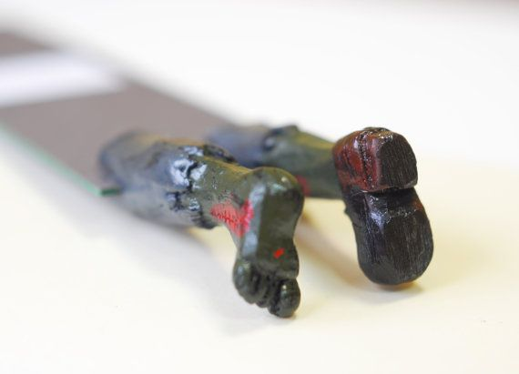 and Zombie bookmarker (I think he likes this one better then the pirate one).  Zombies win again.