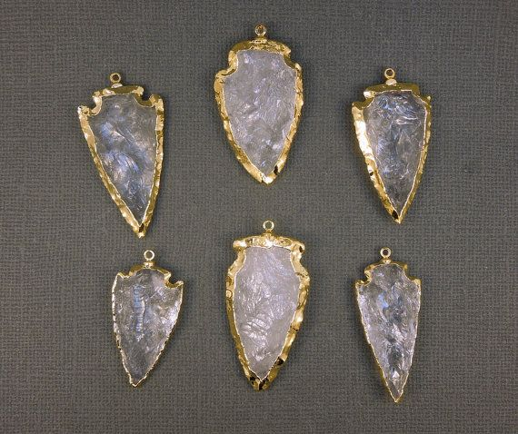 The 18 best arrowhead pendants images on pinterest pendants crystal quartz arrowhead arrow head pendant charm electroplated in gold silver plated available too aloadofball Choice Image