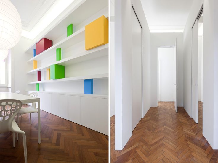 Linvisibile Nicchio and Pocket door, Showroom. Particular details of the internal rooms.