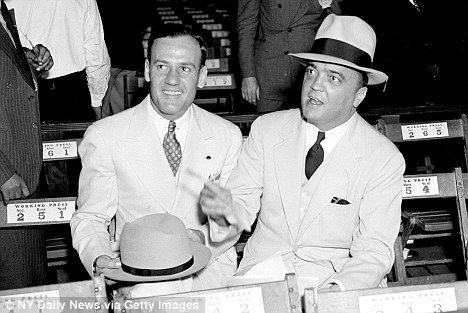 J. Edgar Hoover, right, and Clyde Tolson, who are said to have shared an intimate relationship - as lovers as well as friends.