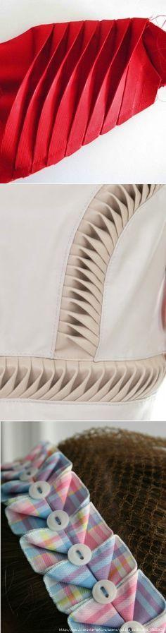 В копилку портнихе: складочки как украшение одежды   :)