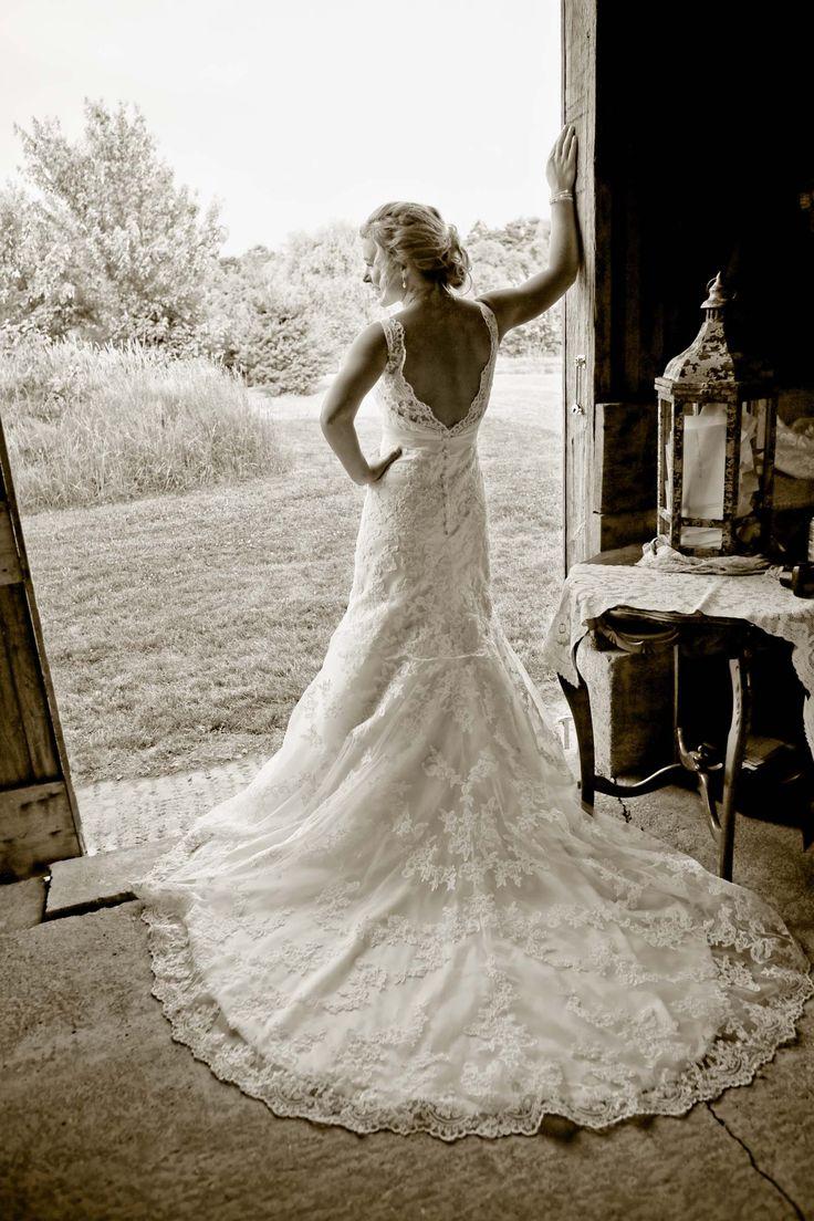 Farm Wedding Bridal Portrait