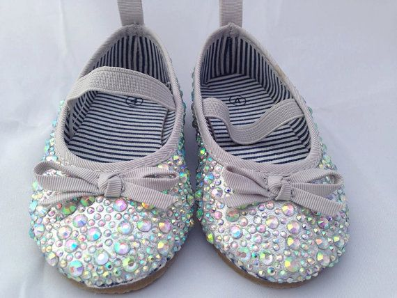 Girls Sparkle Party Shoes by LittleBuzzyBee on Etsy.  These shoes are perfect for flower girls at a wedding, christenings or baptisms. Or even a first birthday party. #sparkle #flowergirl #christening # wedding