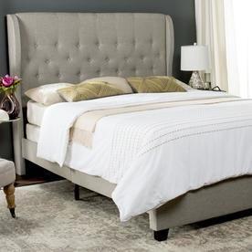 Safavieh Blanchett Light Gray Queen Bed Frame Fox6213c-Q