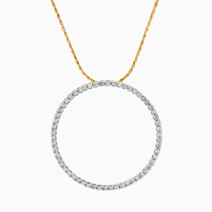 This simple yet beautiful pendant is handcrafted in 18k yellow gold and covered in brilliant round cut diamonds with a total weight 0.38ct. So elegant and gentle, can be worn every day with everything!