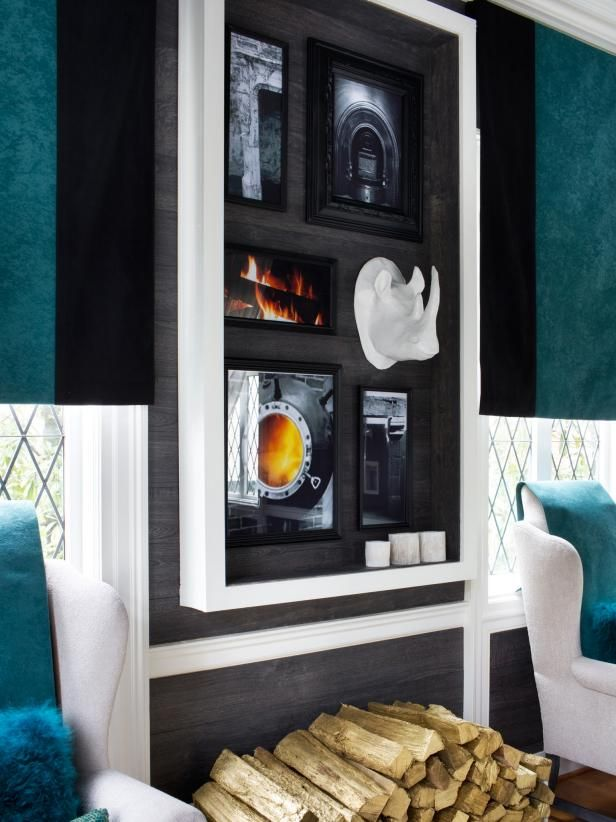 Unite a disparate grouping of objects with a large-scale shadowbox facade. See how to do it at HGTV.com.