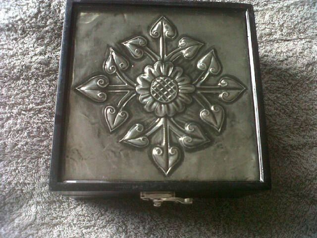 A Box I made and then covered with Pratli-glo