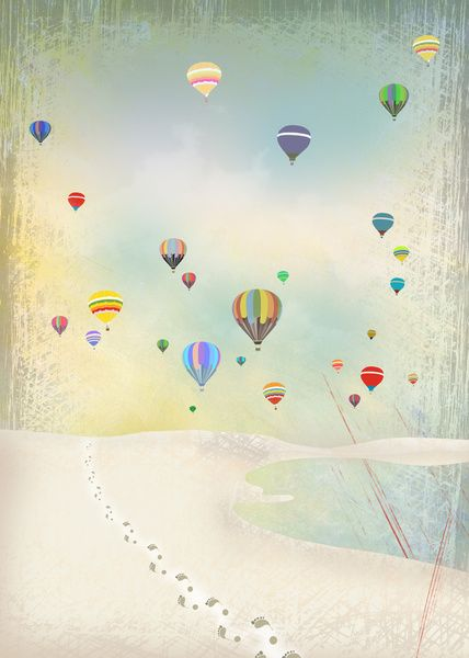 balloon day Art Print @ Elisandra
