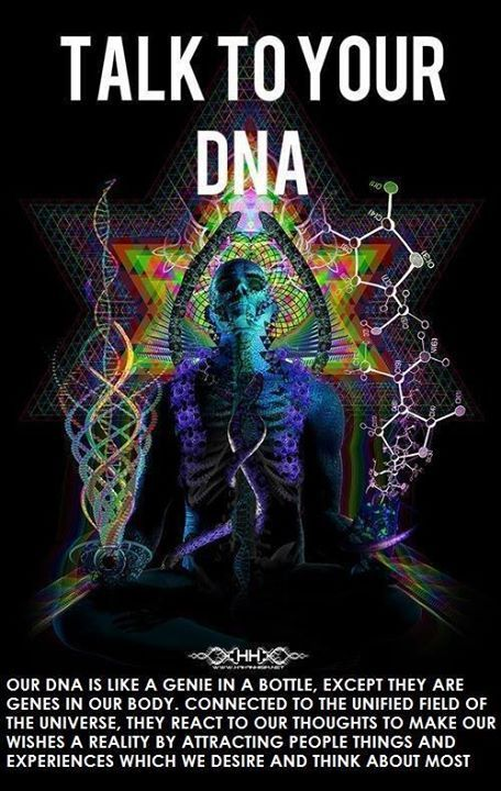 Our DNA is like a genie in a bottle, except they are genes in our body, connected to the unified field of the universe. They react to our thoughts to make our wishes a reality by attracting people, things and experiences which we desire & think about most. #lawofattraction