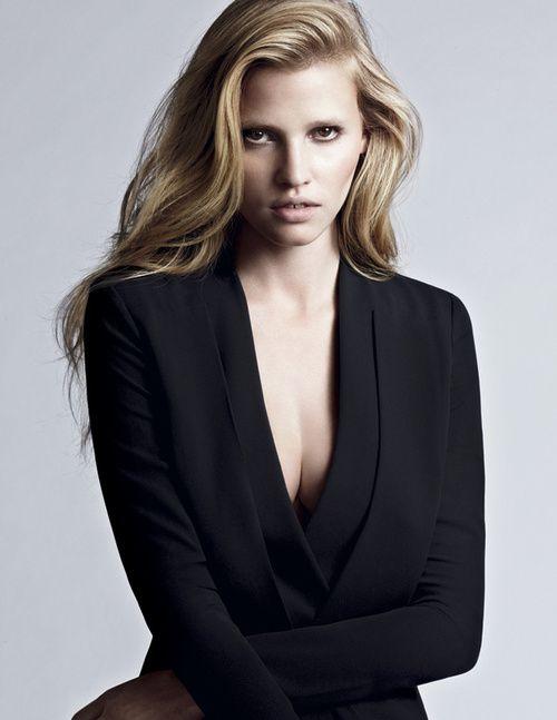 Lara Stone by Robbie Fimmano for Calvin Klein