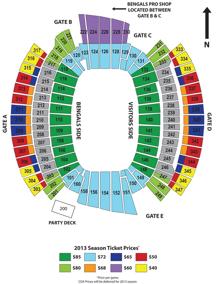 Bengals ticket prices drop for some 2013 sections