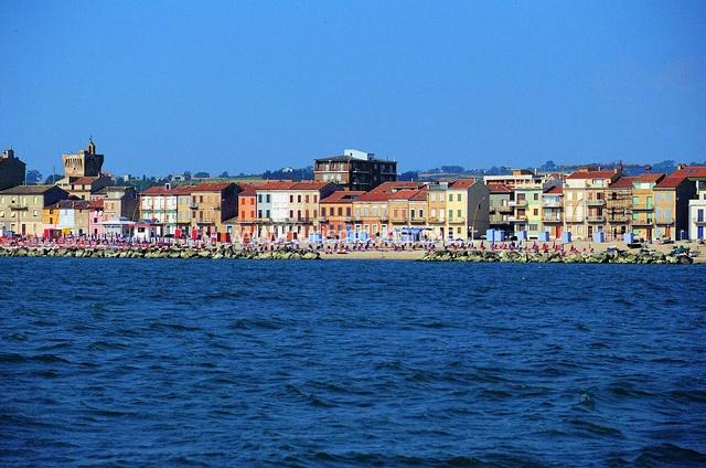 Porto Recanati coast, Marche, Italy