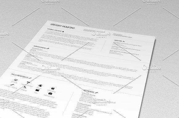 The Professional CV (PSD + WORD DOC) by Desinoir on @creativemarket