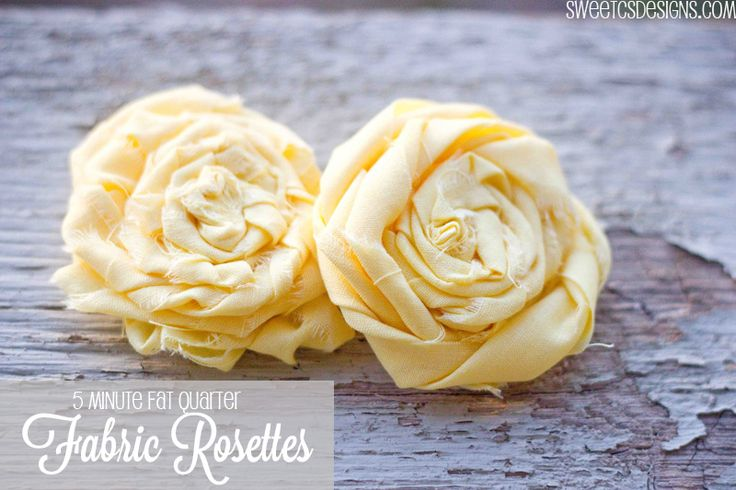 Make a fabric rosette in minutes with a fat quarter or scrap fabric. Perfect for accessories, headbands, hair clips and crafts!