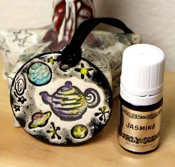 Jasmine Scented Russell's Teapot in Space Ceramic by surly on Etsy, $48.00