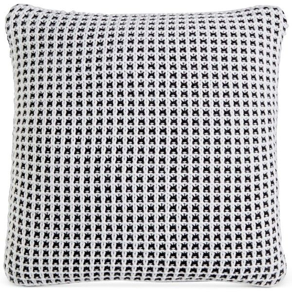 """Charter Club Damask Designs Knit 20"""" Square Decorative Pillow, ($35) ❤ liked on Polyvore featuring home, home decor, throw pillows, knit throw pillow, square throw pillows, contemporary throw pillows, charter club and damask home decor"""