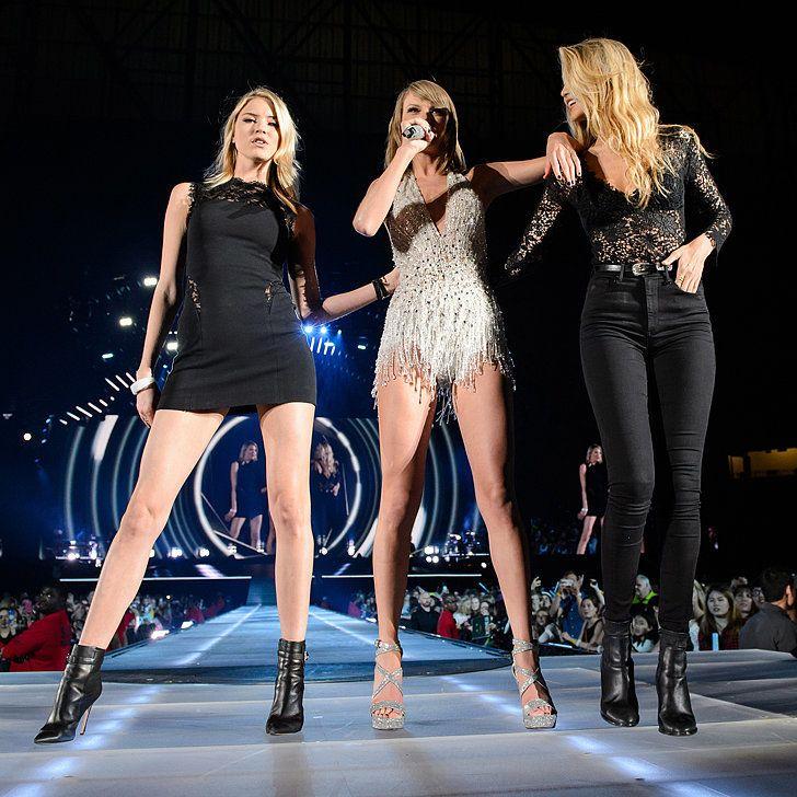 Taylor Swift on Stage With Gigi Hadid and Martha Hunt in Detroit   POPSUGAR Celebrity