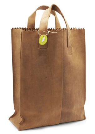 leather paper bag #leather #bag #paper #groceries