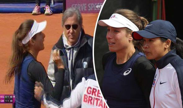 British No 1 Johanna Konta in tears after Romanian captain calls her a 'f***ing b****' - https://newsexplored.co.uk/british-no-1-johanna-konta-in-tears-after-romanian-captain-calls-her-a-fing-b/