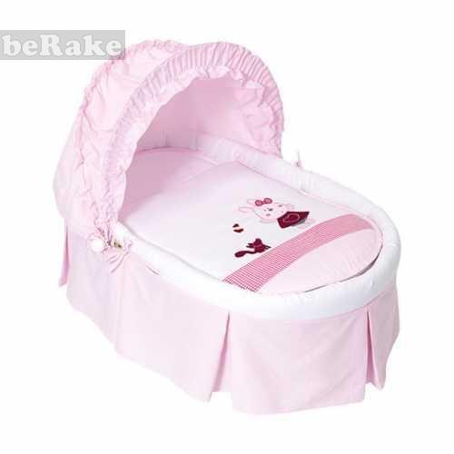 Vendo Moisés o capazo para bebés en color rosa de la colección rosita presumida....