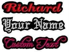 2 Custom Embroidered Name Patches Tags IRON ON Badges FELT Motorcycle club Biker