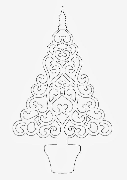 98 best Kirigami images on Pinterest Card templates, Invitations - free christmas tree templates