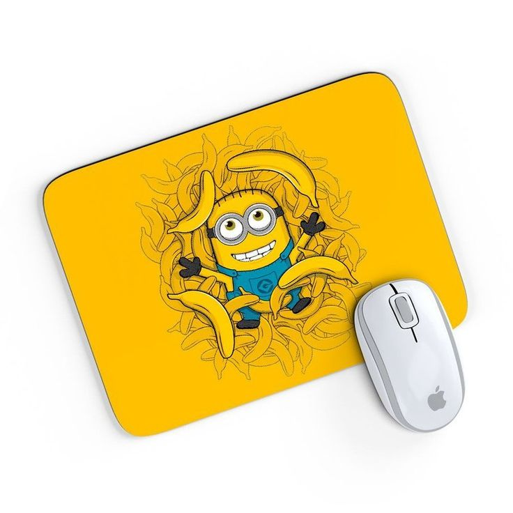 Mouse Pad American Minion Bananas Amarelo 24x20