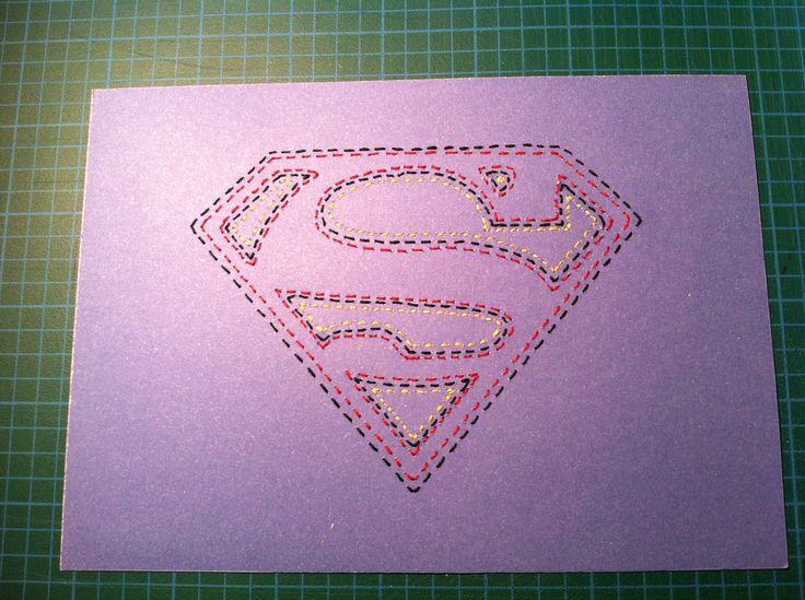 Super Man Stitched Art by JSA. #JaimiesStitchedArt