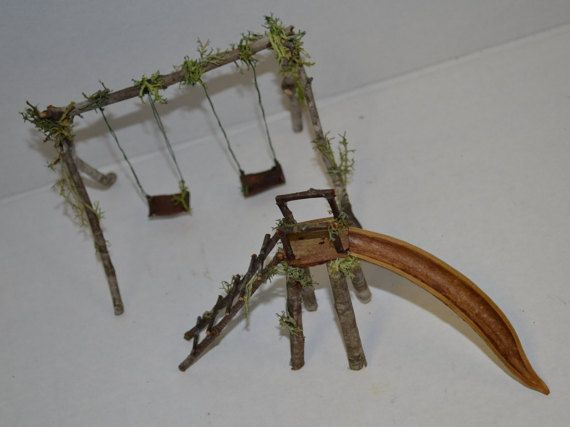 Hey, I found this really awesome Etsy listing at https://www.etsy.com/listing/254922637/fairy-playground-swing-set-slide