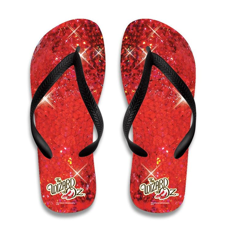 The Wizard Of Oz Ruby Slippers Flip Flops from Warner Bros.: These Wizard of Oz flip flops are a fun salute to… #Movies #Films #DVD Video