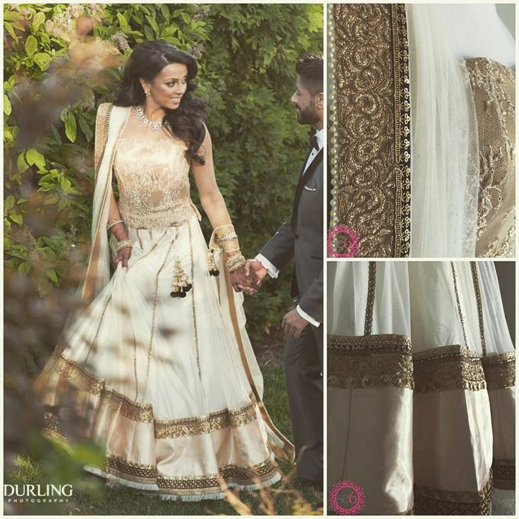 This Studio East6 bride looks stunning in her dress; we love those details!   #IndianBride #IndianWedding #FushionWedding #IndianCouture   http://www.studioeast6.com