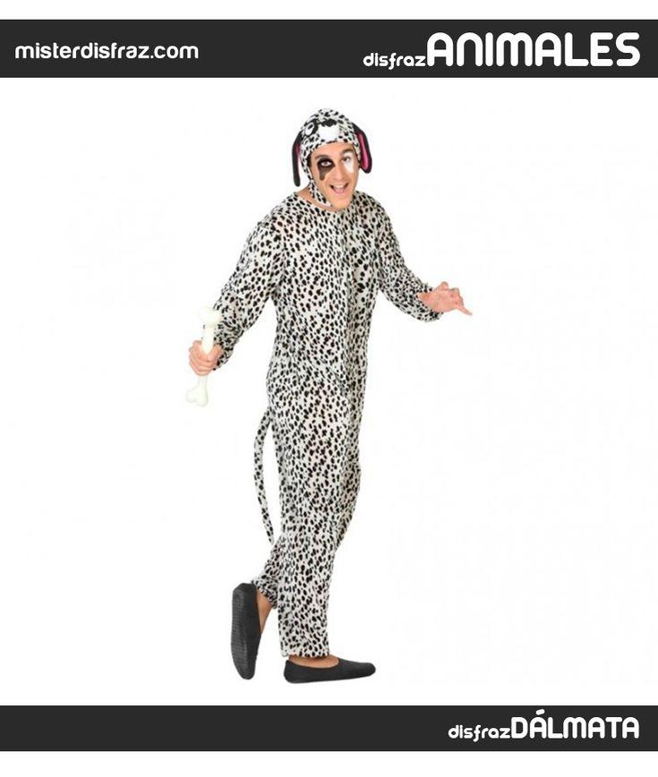 Disfraz de Dálmata Cachorro para Hombre. Con este disfraz de Dálmata imitarás a los perritos de la fabulosa película de Walt Disney 101 Dálmatas.  #disfrazdeanimal #disfrazesdeanimales #disfraz #animal #disfrazhombre #hombre #dalmata #cachorro