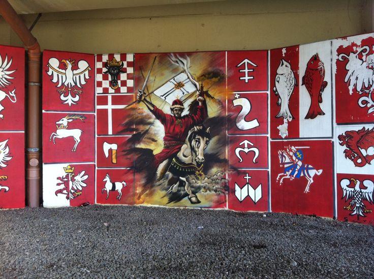 historyczny mural pod wiaduktem  Wielicka (al. Powstańców Śląskich), Kraków