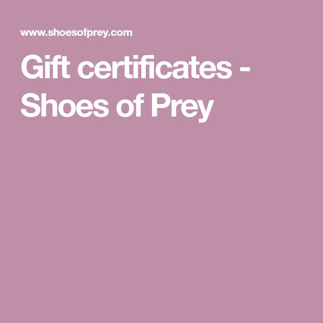 Gift certificates - Shoes of Prey