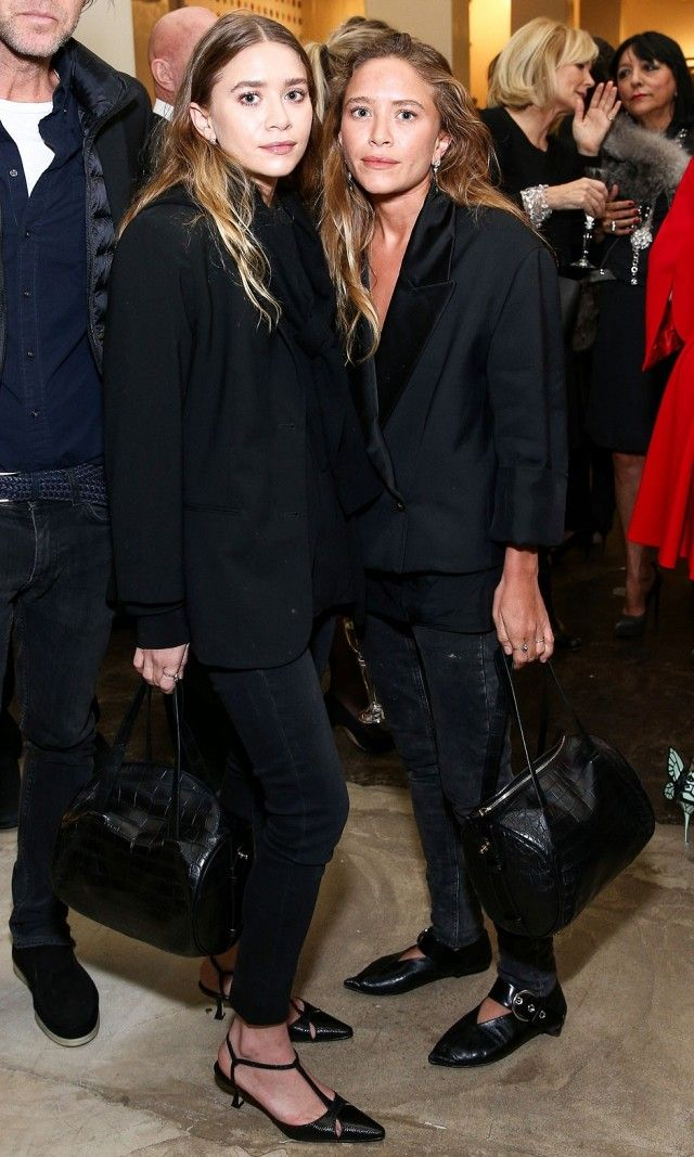 Mary-Kate and Ashley Wore Matching Outfits in L.A. Last Night | WhoWhatWear