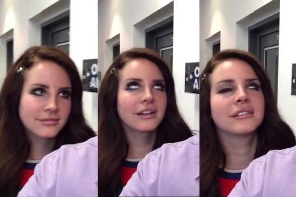 "Lana Del Rey promoting ""West Coast"" on KISS 95.7 radio station  #LDR"