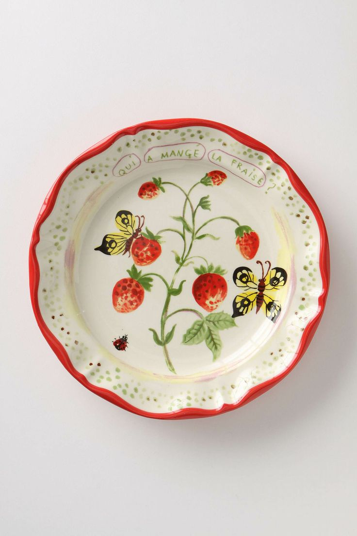 De Vincennes Dinner Plate, Berries by Nathalie Lete. Anthropologie carries her plates. They're all so pretty!