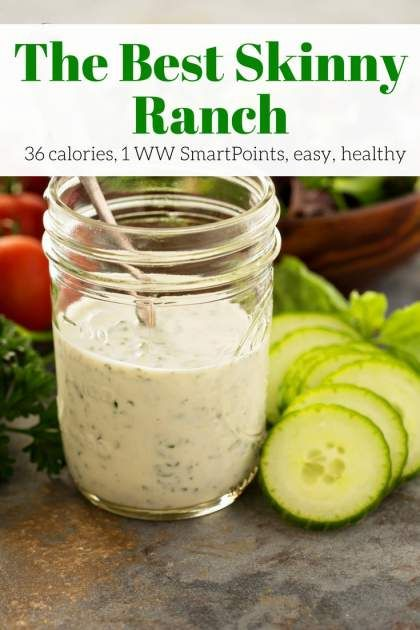 The Best Skinny Ranch made with Greek yogurt, fresh herbs, and lemon juice has all the flavor of your favorite ranch without all the calories. It takes just a few minutes to throw together and tastes amazing.