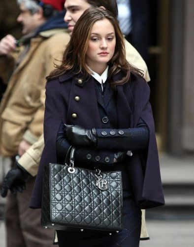 Blair Waldorf in Lorick (cape) and Diane Von Furstenberg (suit) (2.15 Gone With The Will)