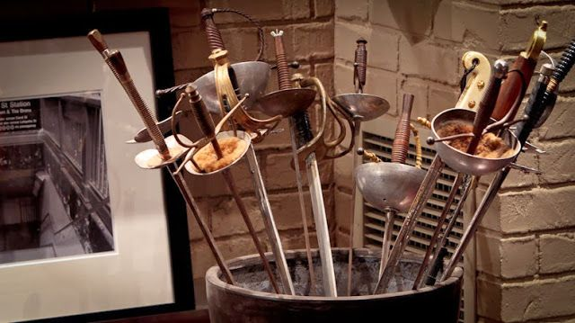 Everyday Planet: Inspiration from Castle: Richard Castle's Office. SWORDS :)