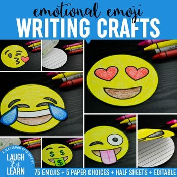 Emojis are the next big thing: Kids love them, teachers use them, everyone can relate to them in some form. Get your students writing with these fun emoticon writing books.