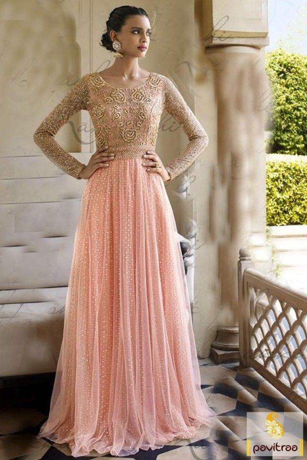 New Heavy work latest pink color net designer long anarkali salwar suit for engagement online in discount sale Beautiful wedding reception designer dresses