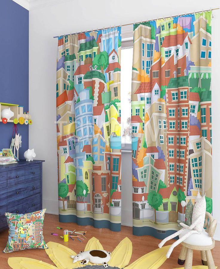 """Комплект штор """"Анак"""": купить комплект штор в интернет-магазине ТОМДОМ #томдом #curtains #шторы #interior #дизайнинтерьера"""