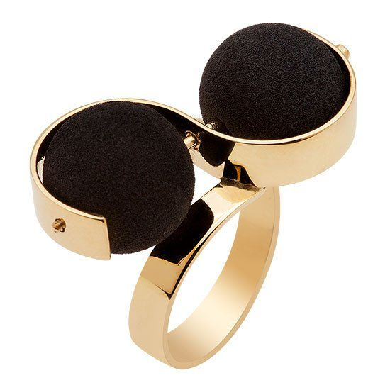 As dark and sensuous as a Tom Ford scent! #statement rings #black #black jewelry #cocktail rings
