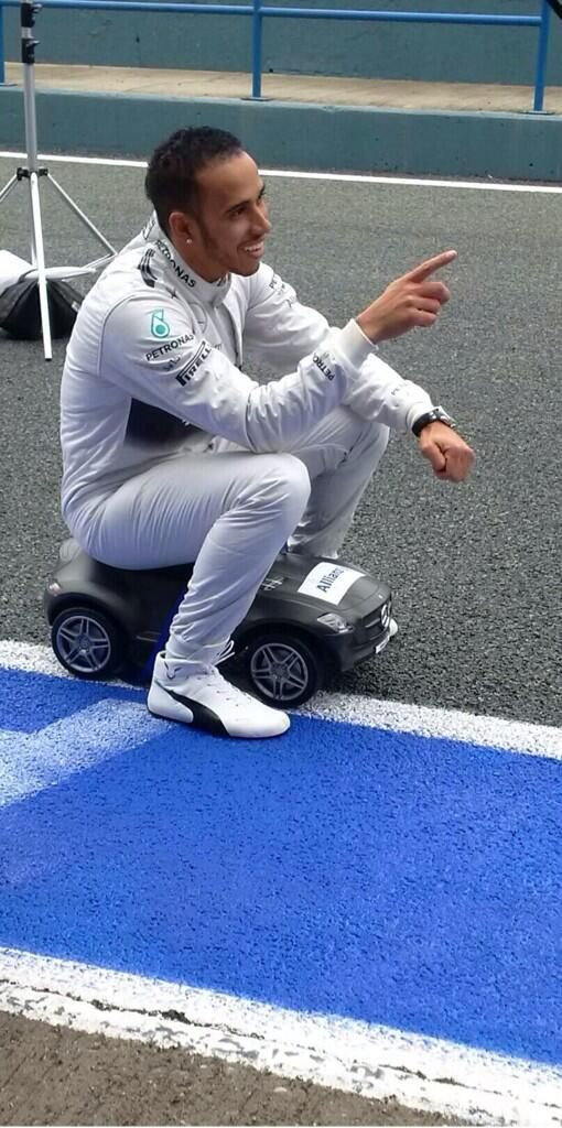 "Lewis Hamilton: ""Ride On"" Mercedes gifted #1 @ Russia 2014"